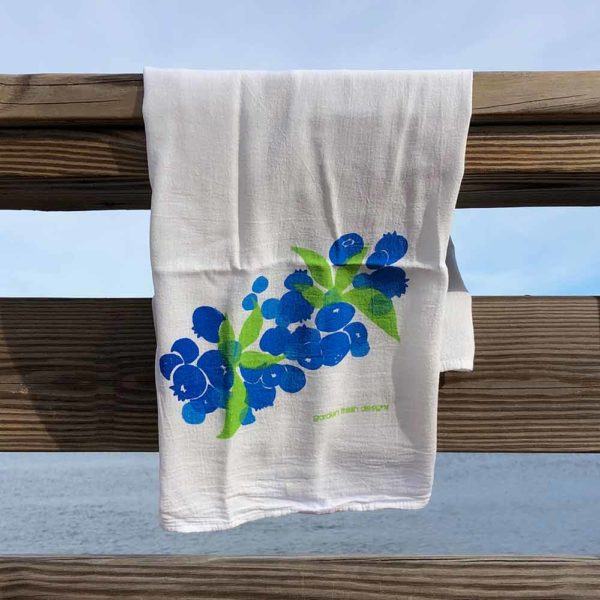 Blueberry Flour Sack Towels by Garden Fresh Design