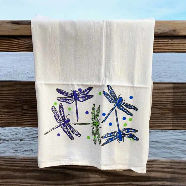 Dragonfly Flour Sack Towels by Garden Fresh Design