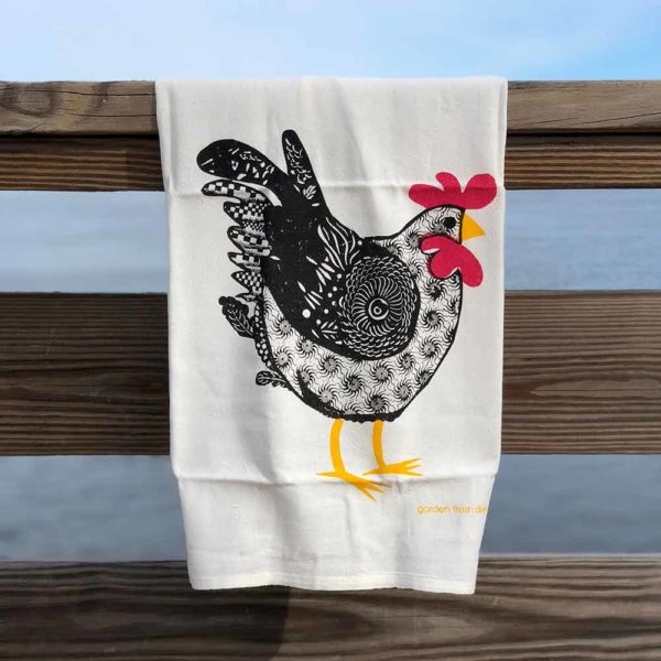 Chicken Flour Sack Towels by Garden Fresh Design