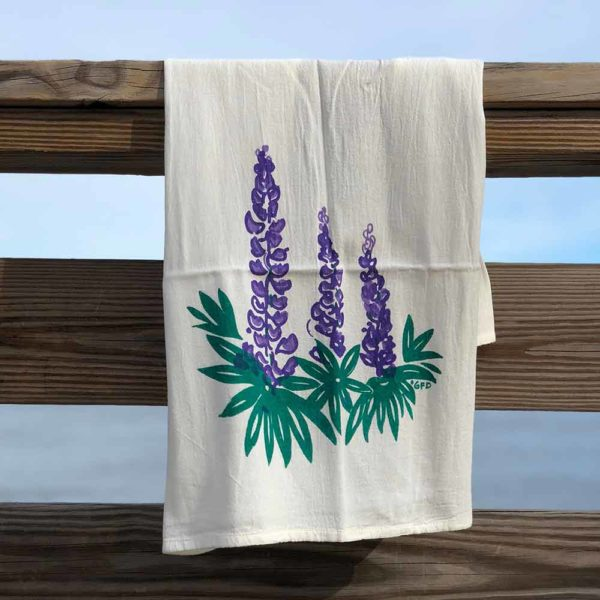 Lupines Flour Sack Towels by Garden Fresh Design