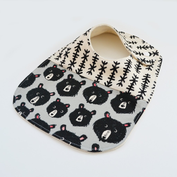 Two Little Beans Bibs - Bears