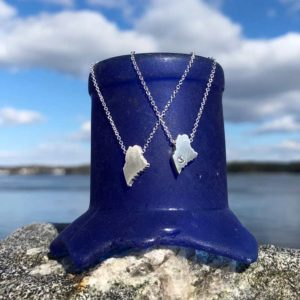 Sterling Silver Mini Maine Necklaces