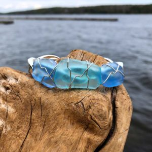 Light Blue & Aqua Sea Glass Bracelet