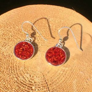 Crushed Lobster Shell Silver Earrings