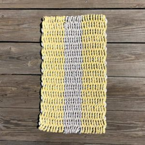 Yellow & White, Lobster Rope Doormat.