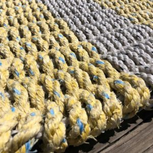 Yellow & White Lobster Rope Doormat