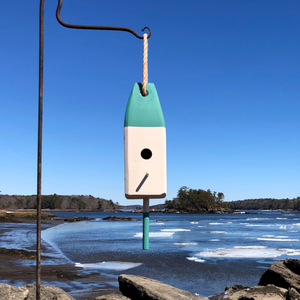 Green Lobster Buoy Bird House