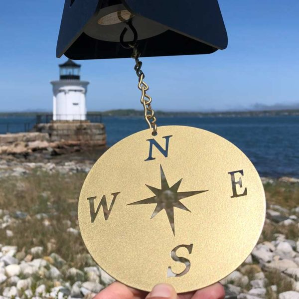 Black Compass Rose Buoy Bell