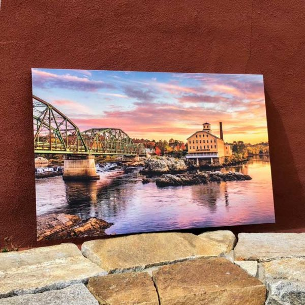 Bowdoin Mill Sunrise in Brunswick Maine | Canvas by Benjamin Williamson Description