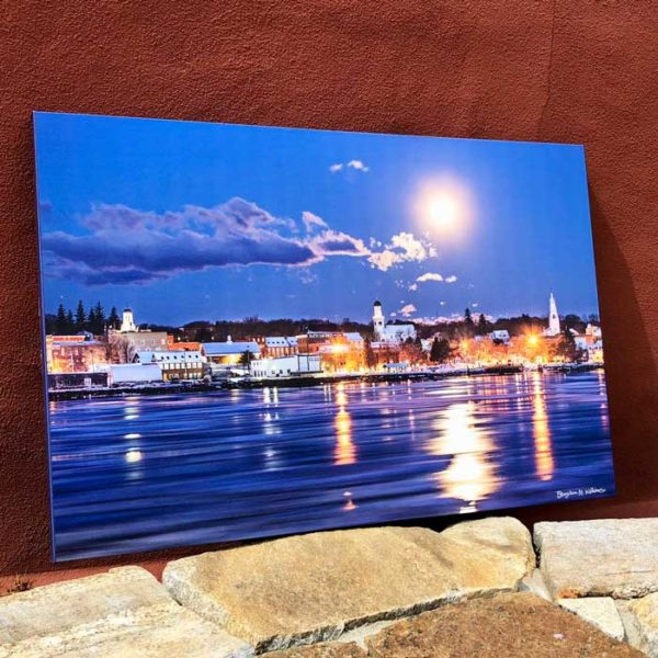 Bath Maine Moonlight Skyline | Canvas by Benjamin Williamson Description