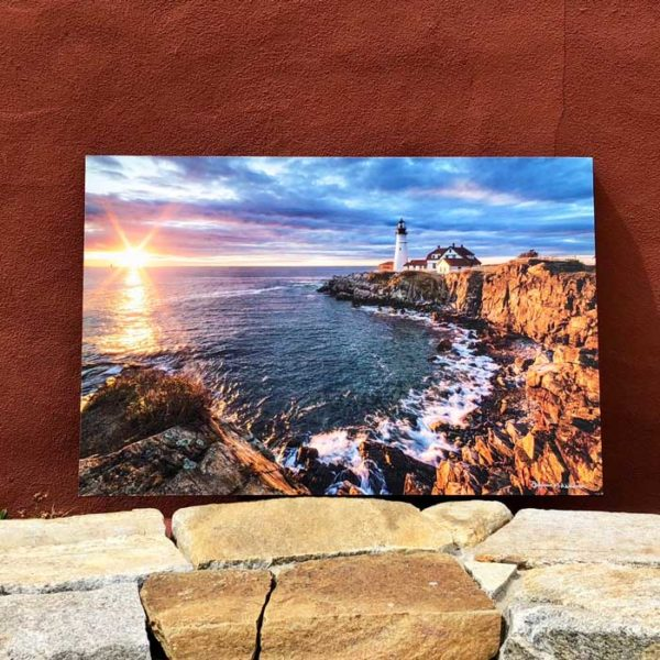 Portland Headlight Sunrise | Canvas by Benjamin Williamson Description