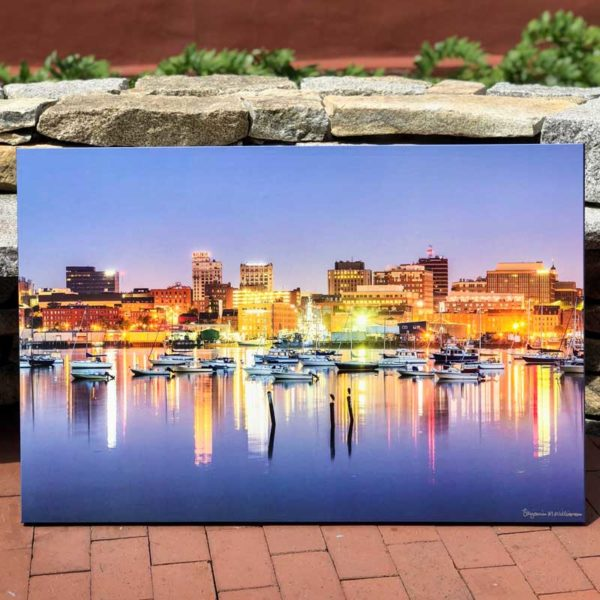 Portland Waterfront Skyline | Canvas by Benjamin Williamson Description