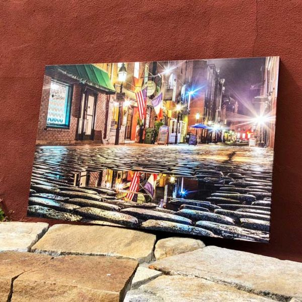 Wharf Street Puddle | Canvas by Benjamin Williamson
