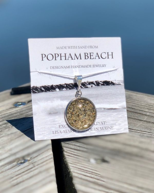 Popham Beach Sand Bangle Bracelet, Popham Beach Sand Jewelry