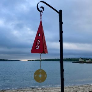 Red Compass Rose Buoy Bell