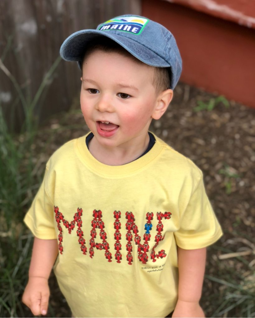 Youth MAINE Lobster T-Shirt & Denim Maine Hat