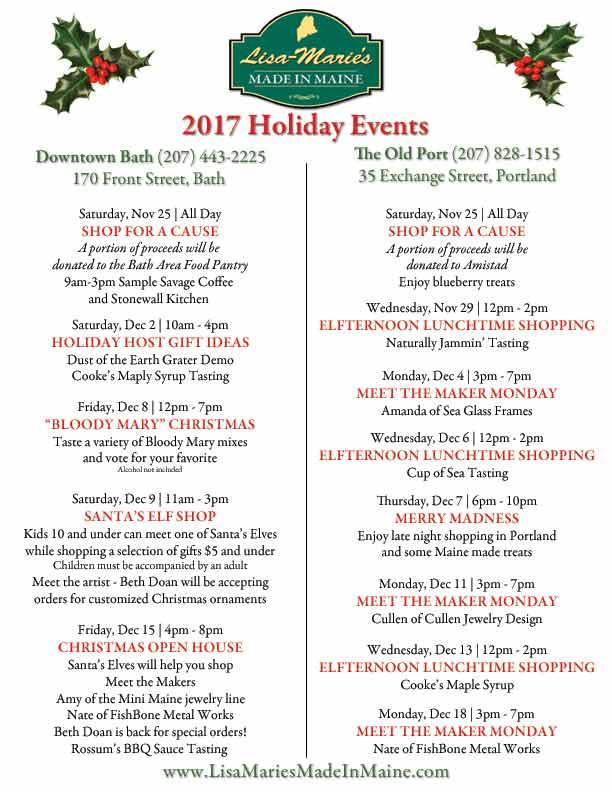 Holiday Events 2017