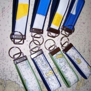 Sail Cloth & Chart Key Fobs