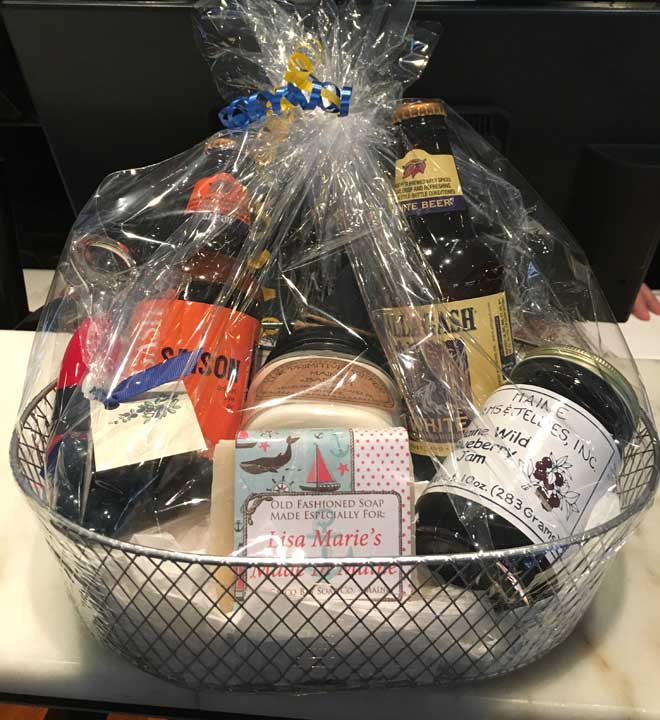 2016 Customized Maine Made Gift Packages for Press Hotel Guests