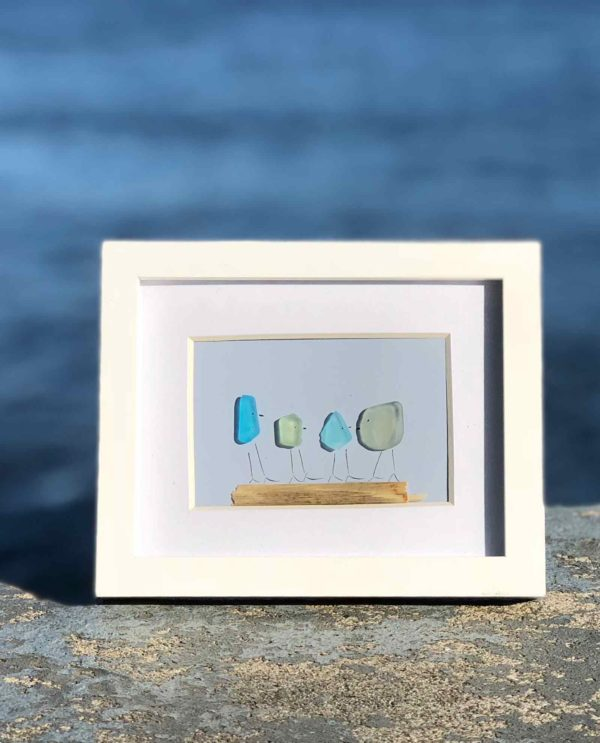 Family of 4 Sea Glass Frames