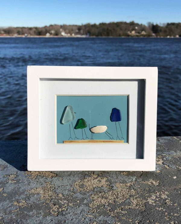 Family with Pets Sea Glass Frames
