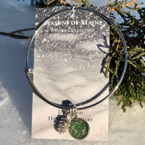 Pine Needle Bangle Bracelet