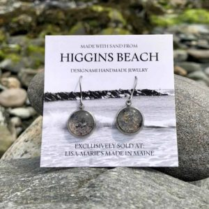Higgins Beach Sand with Crushed Mussel Shell Earrings
