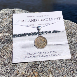 Portland Head Light Beach Sand Pendant - Small