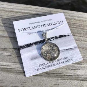 Large Portland Head Light Beach Sand Pendant