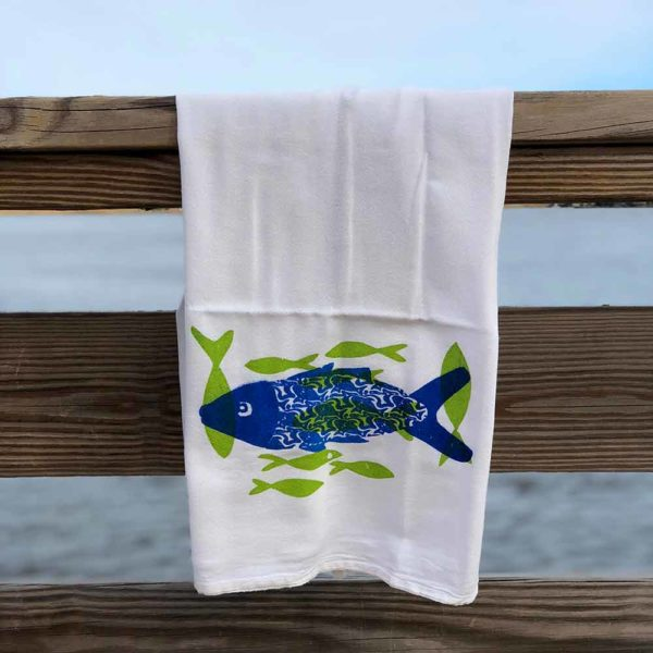 Fish Flour Sack Towels by Garden Fresh Design
