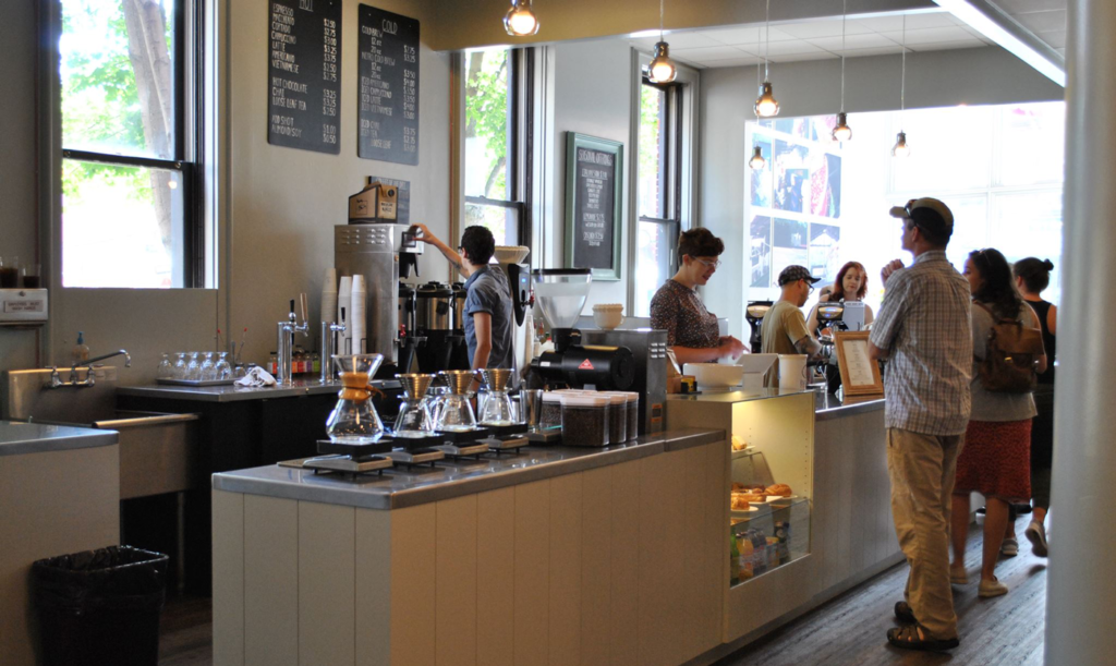 Bard Coffee Shop in Portland Maine's Old Port
