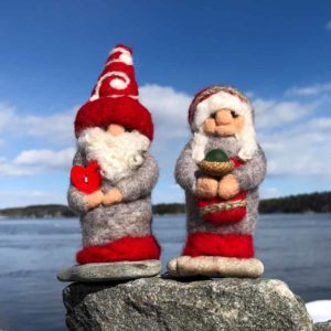Mister & Miss Red & Grey Gnome