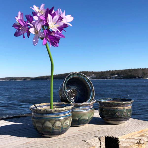 Ikebana in Fred's Glaze by Unity Pond Pottery
