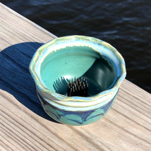 Ikebana in Peacock Glaze by Unity Pond Pottery