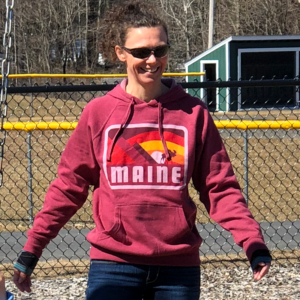 Red MAINE Hoodie