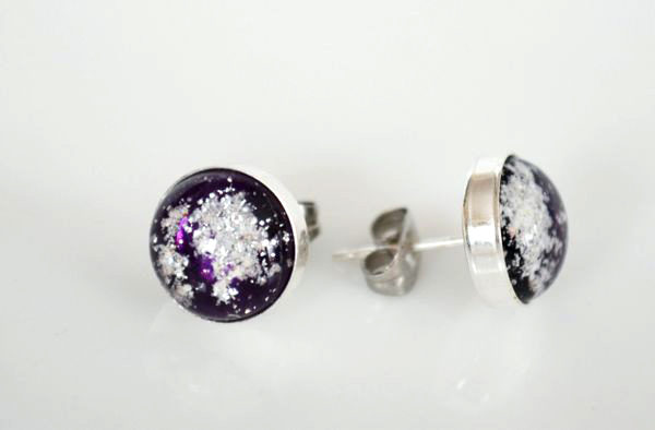 Cremation Jewelry - Stud Earrings