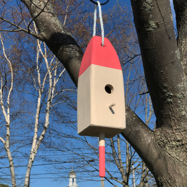 Lobster Buoy Bird House - Coral