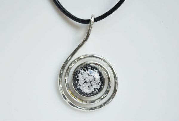 Cremation Jewelry - Large Swirl Pendant