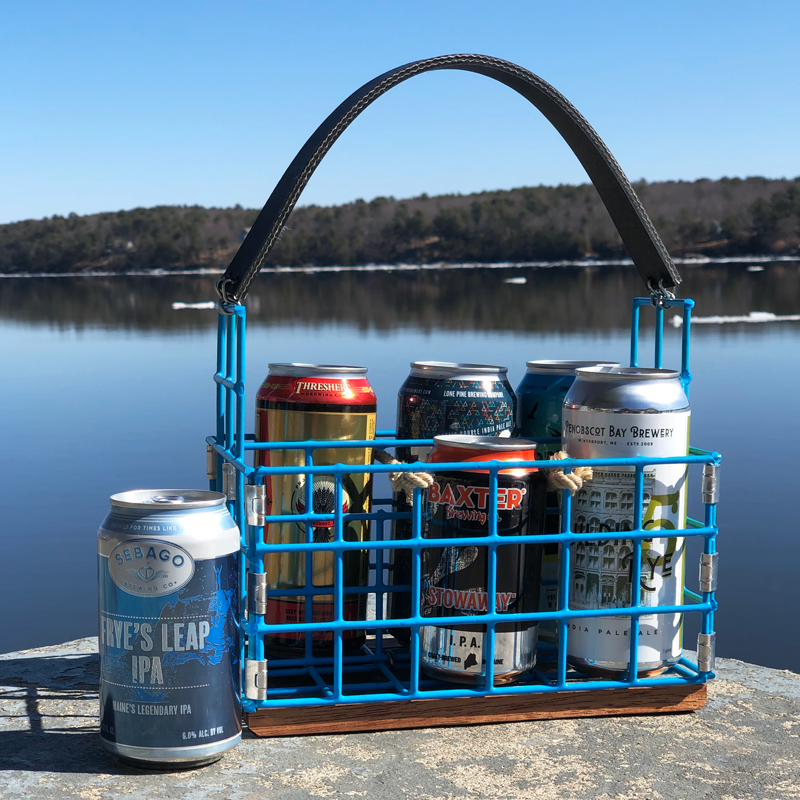 Blue Lobster Trap Beer Caddy