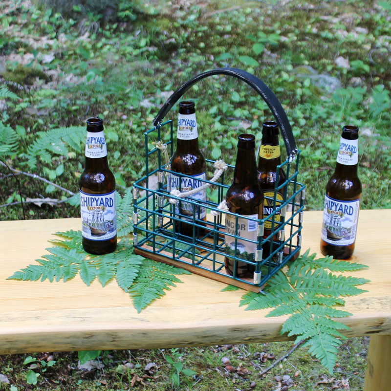 Green Lobster Trap Beer Caddy
