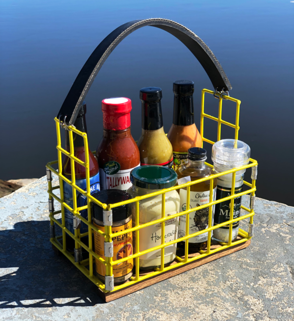 Yellow Lobster Trap Condiment Caddy
