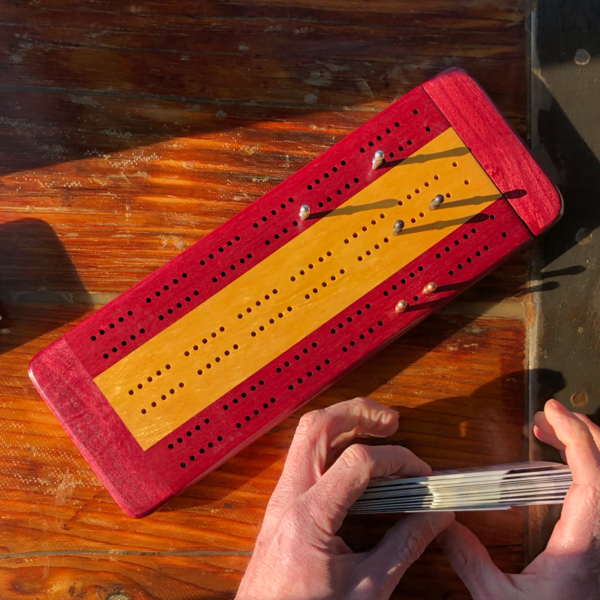 Made in Maine 3 Track Cribbage Board by Wood Accents