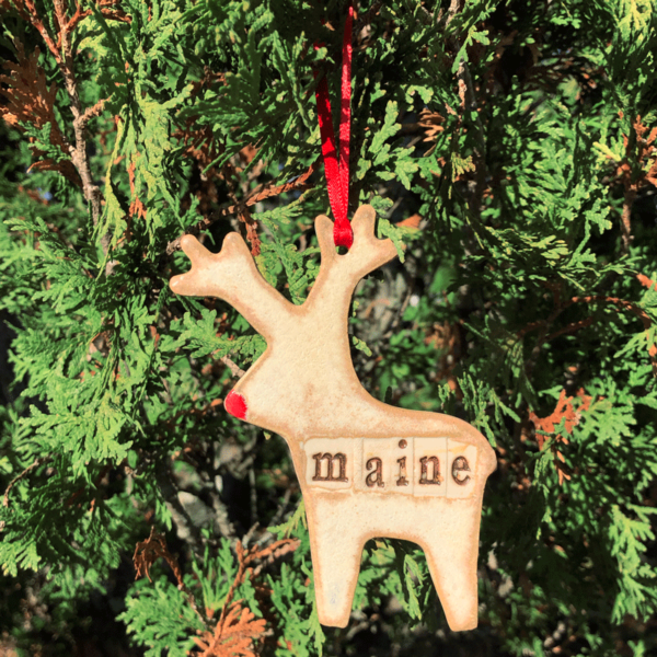 Maine Reindeer Ornament