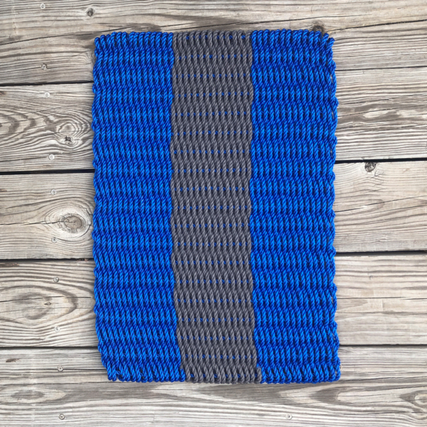 Blue & Charcoal Lobster Rope Doormat