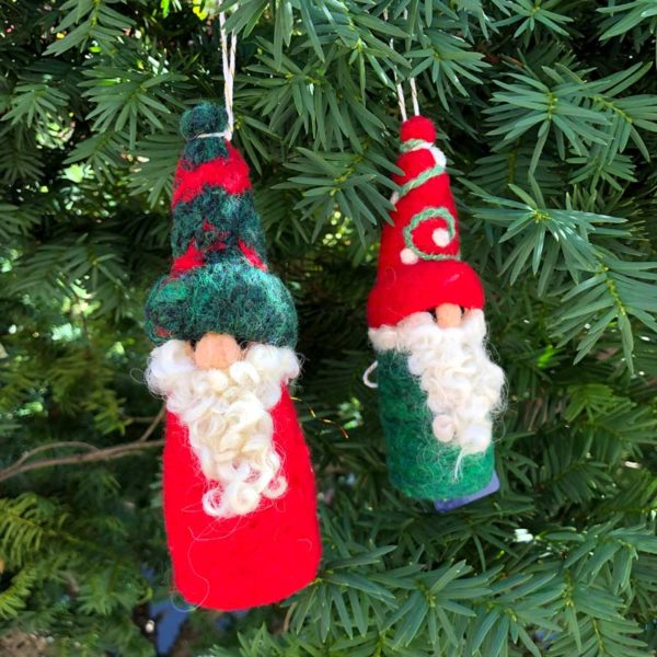 Felted Gnome Ornaments