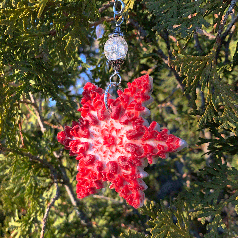 Lobster Shell Snowflake Ornament Lisa Marie S Made In Maine