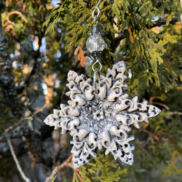 Mussel Shell Snowflake Ornament