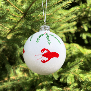 Lobster Wreath Snowball Ornament
