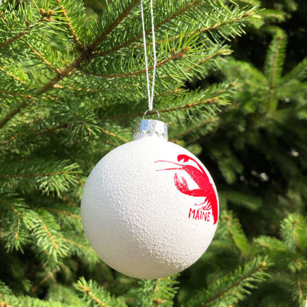 Maine Lobster Snowball Ornament