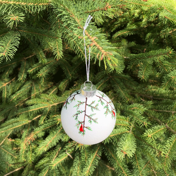 Cardinals Snowball Ornament